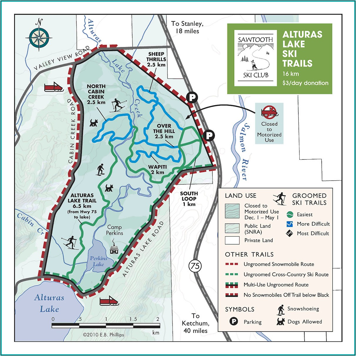 Sawtooth Wilderness Hiking Map And Guide