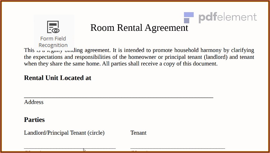Simple Rent Agreement Format In English