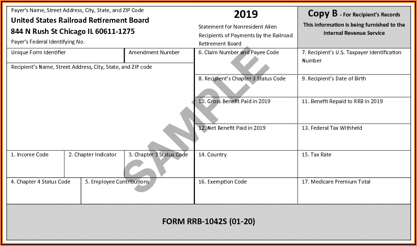 Social Security 1099 Form For Taxes