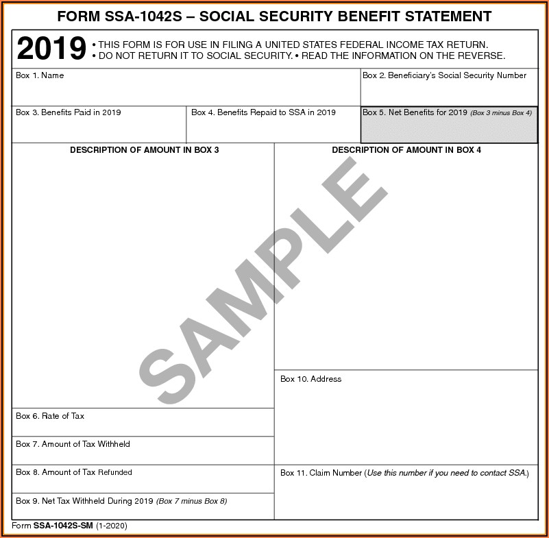 Social Security Form 1099 Sm