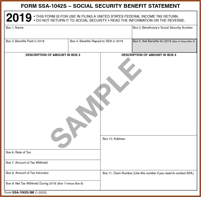 Social Security Form 1099 Sm