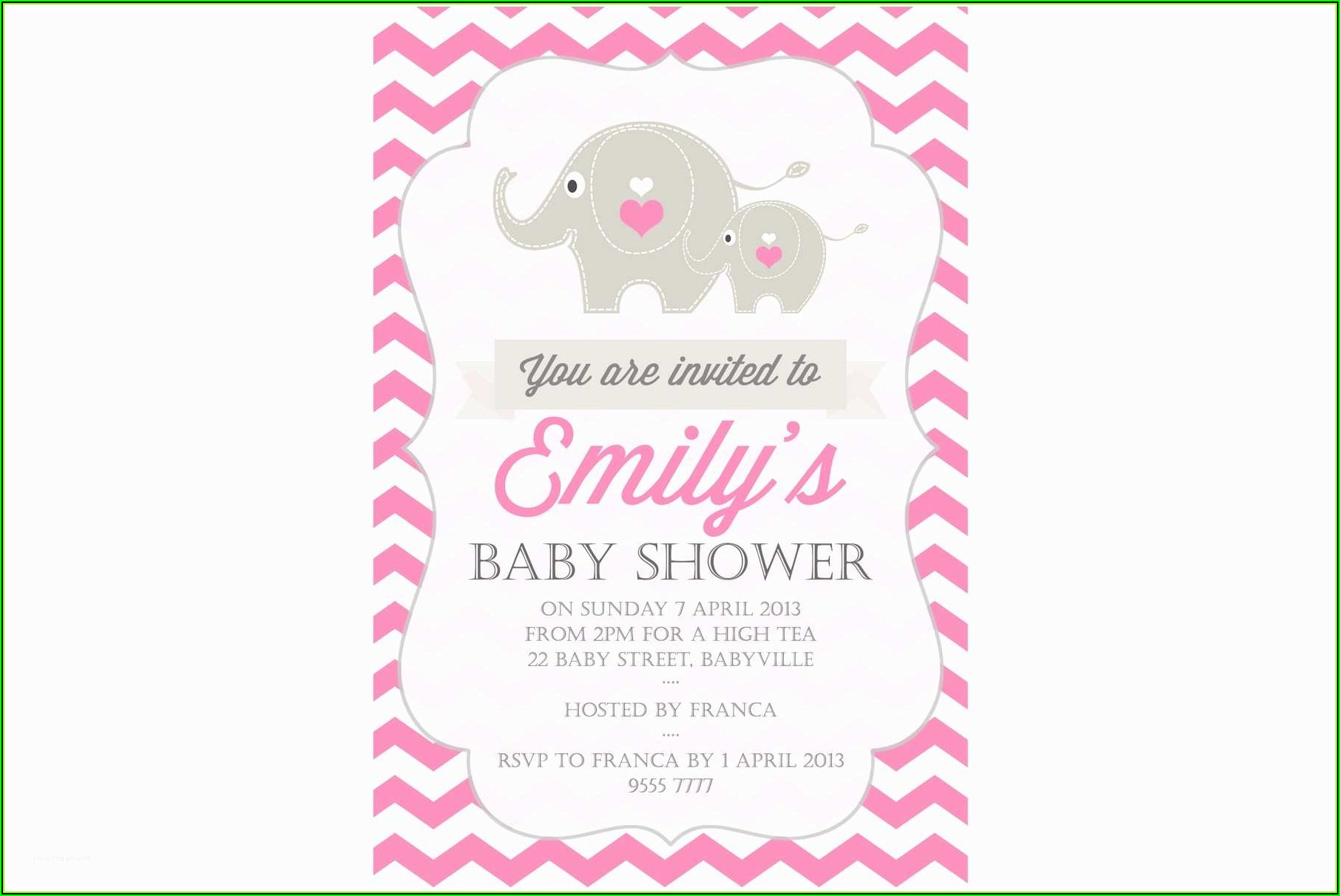 Sprinkle Baby Shower Invitations Templates Free