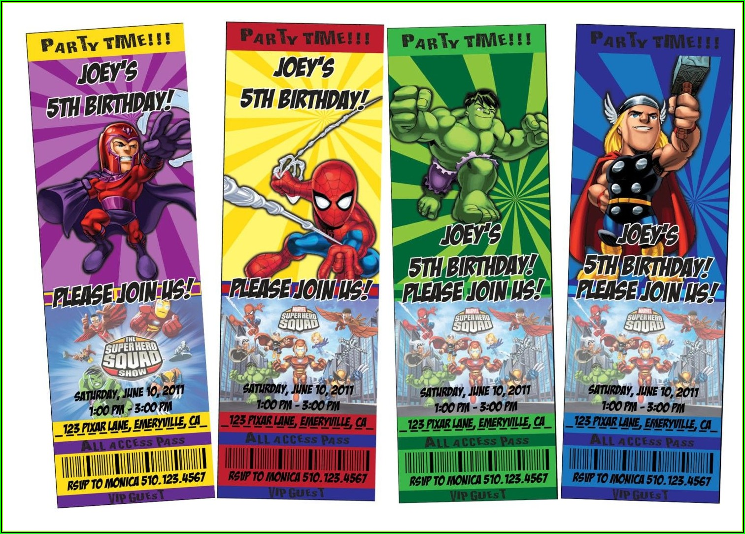 Superhero Party Invitation Template Printable