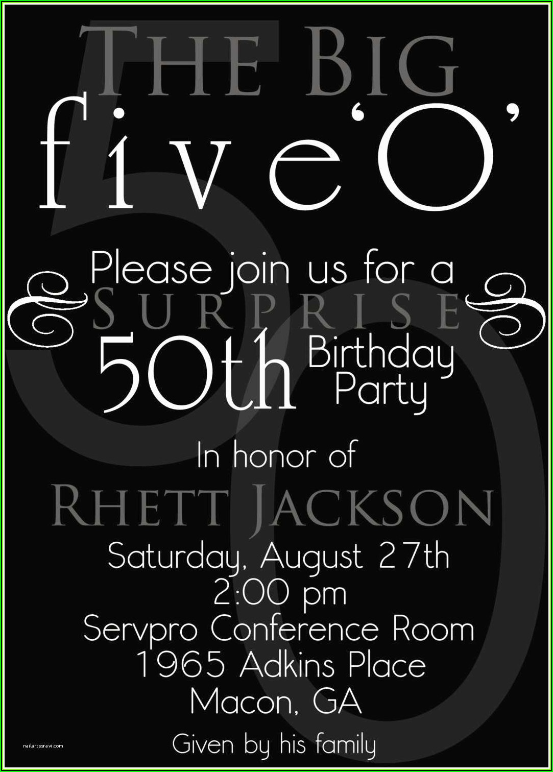 Surprise 50th Birthday Invitation Templates Free Download