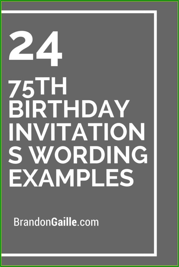 Surprise 75th Birthday Invitation Templates