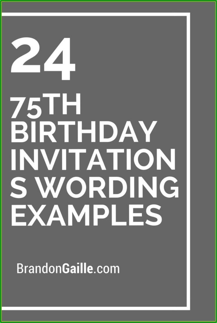 Surprise 75th Birthday Invitation Templates