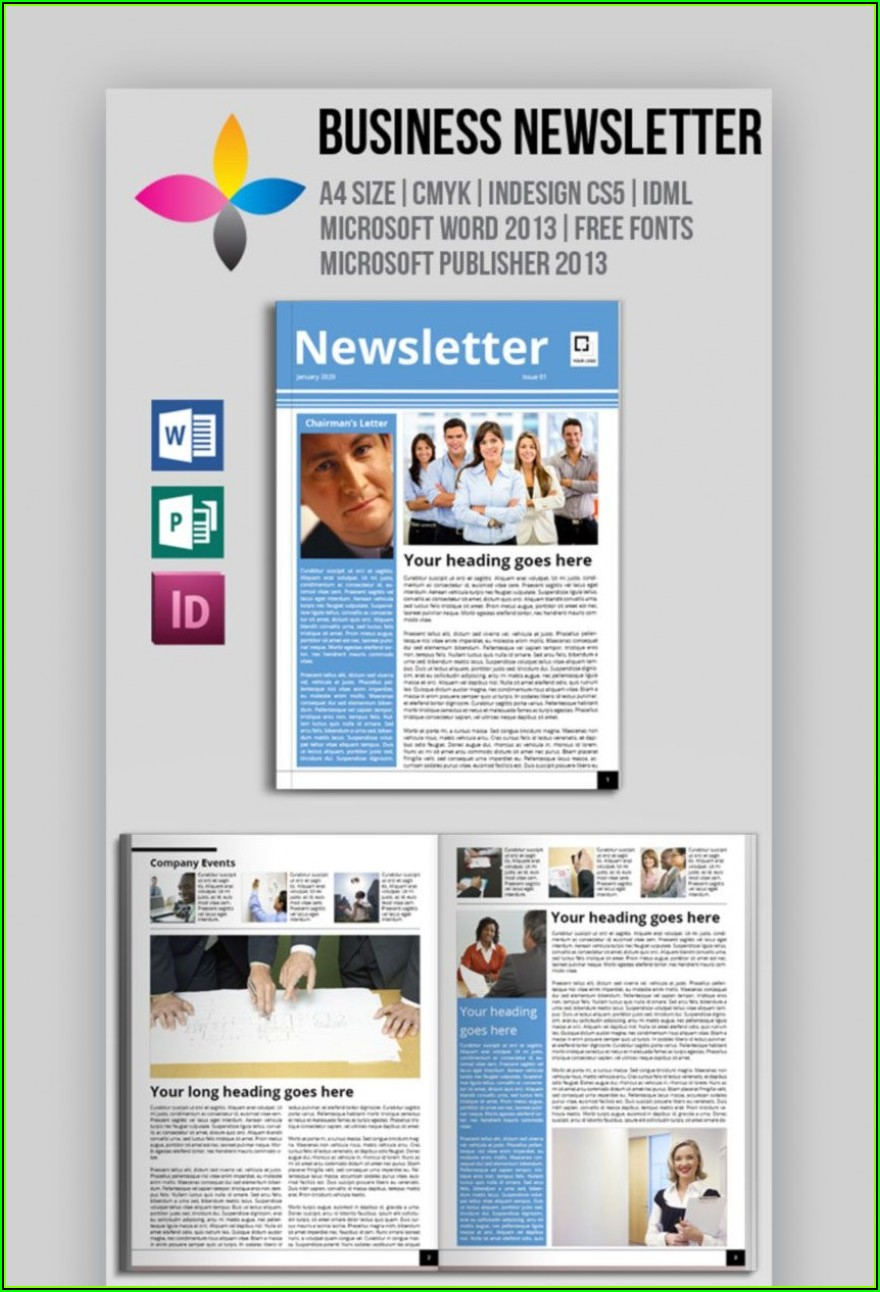 Templates For Newsletters In Word