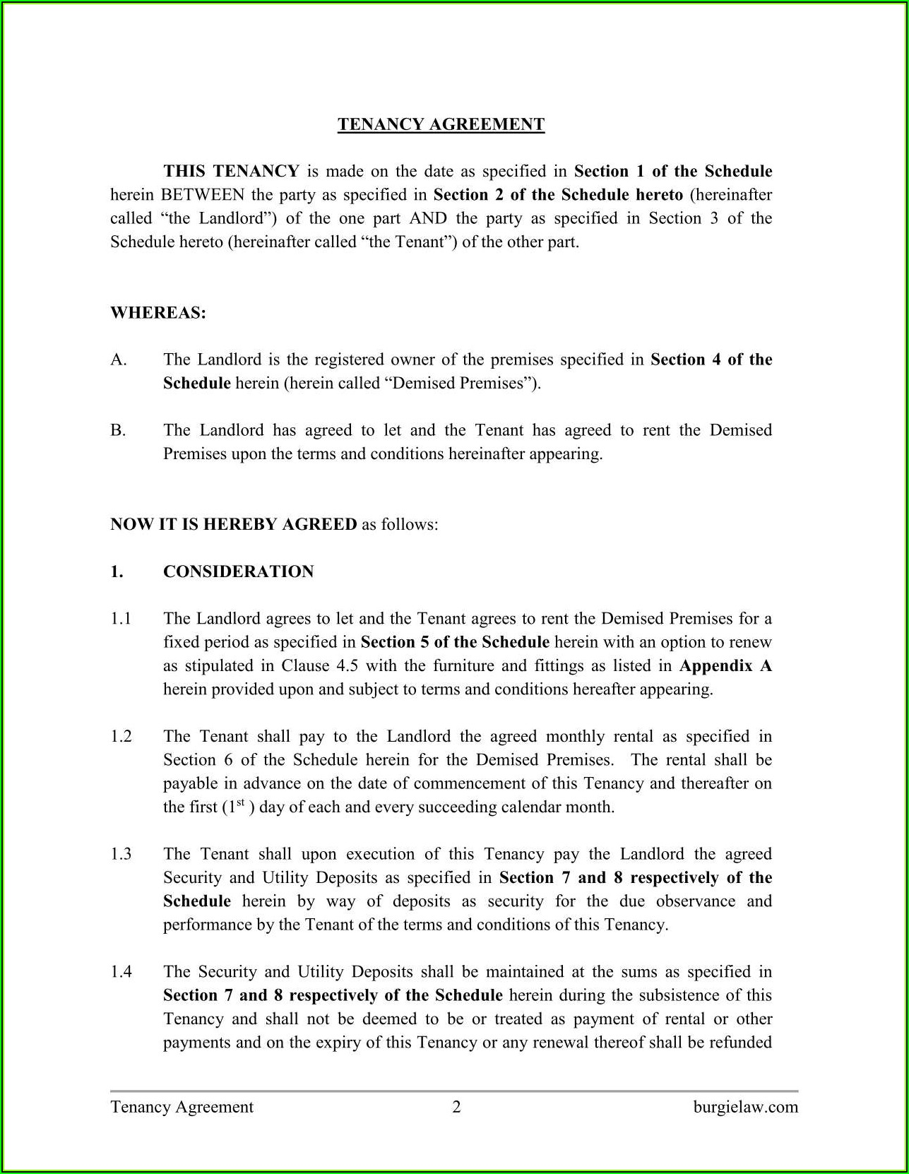 Lodger Agreement Template Free Download - Template 2 ...
