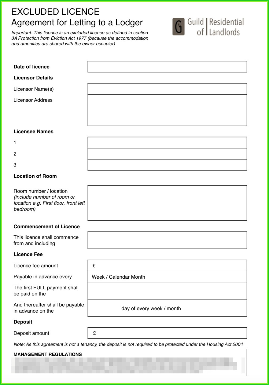 Tenancy Agreement Template Free Download Pdf