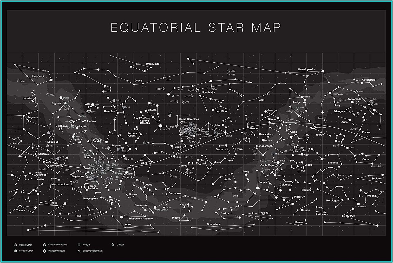 The Constellations Glow In The Dark Star Map (northern Hemisphere)
