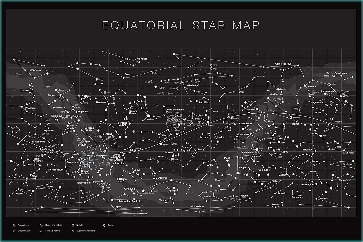 The Constellations Glow In The Dark Star Map (northern Hemisphere)