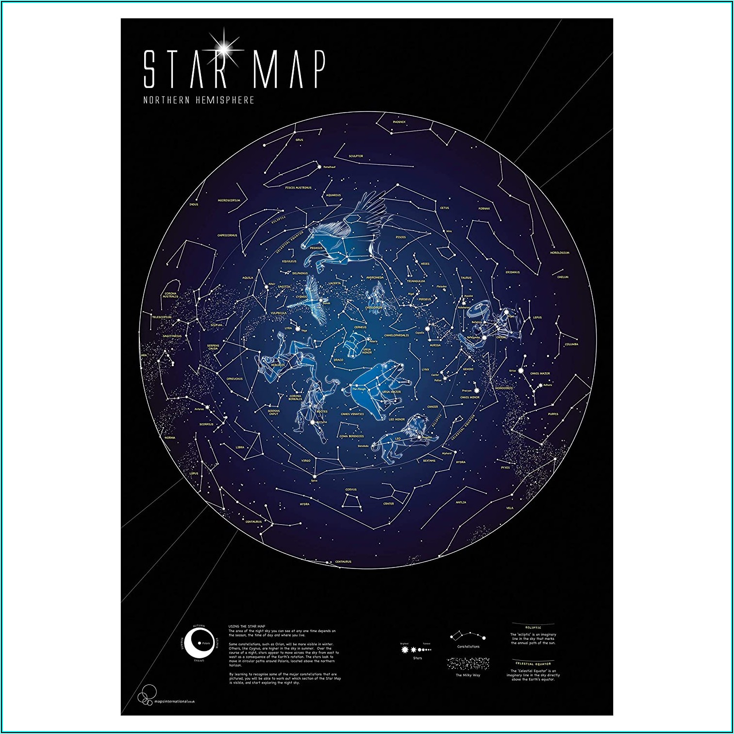 The Constellations Glow In The Dark Star Map