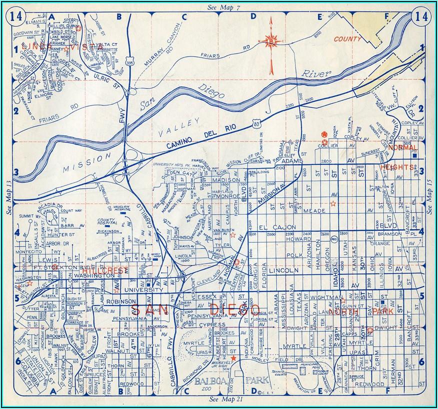 Thomas Brothers Map San Diego