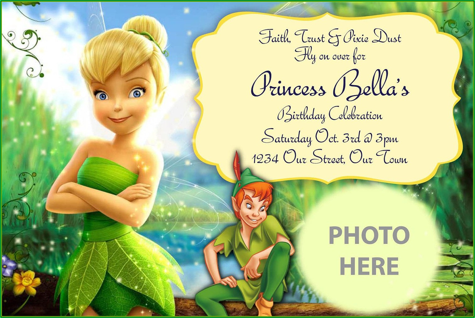 Tinkerbell Invitation Maker Free