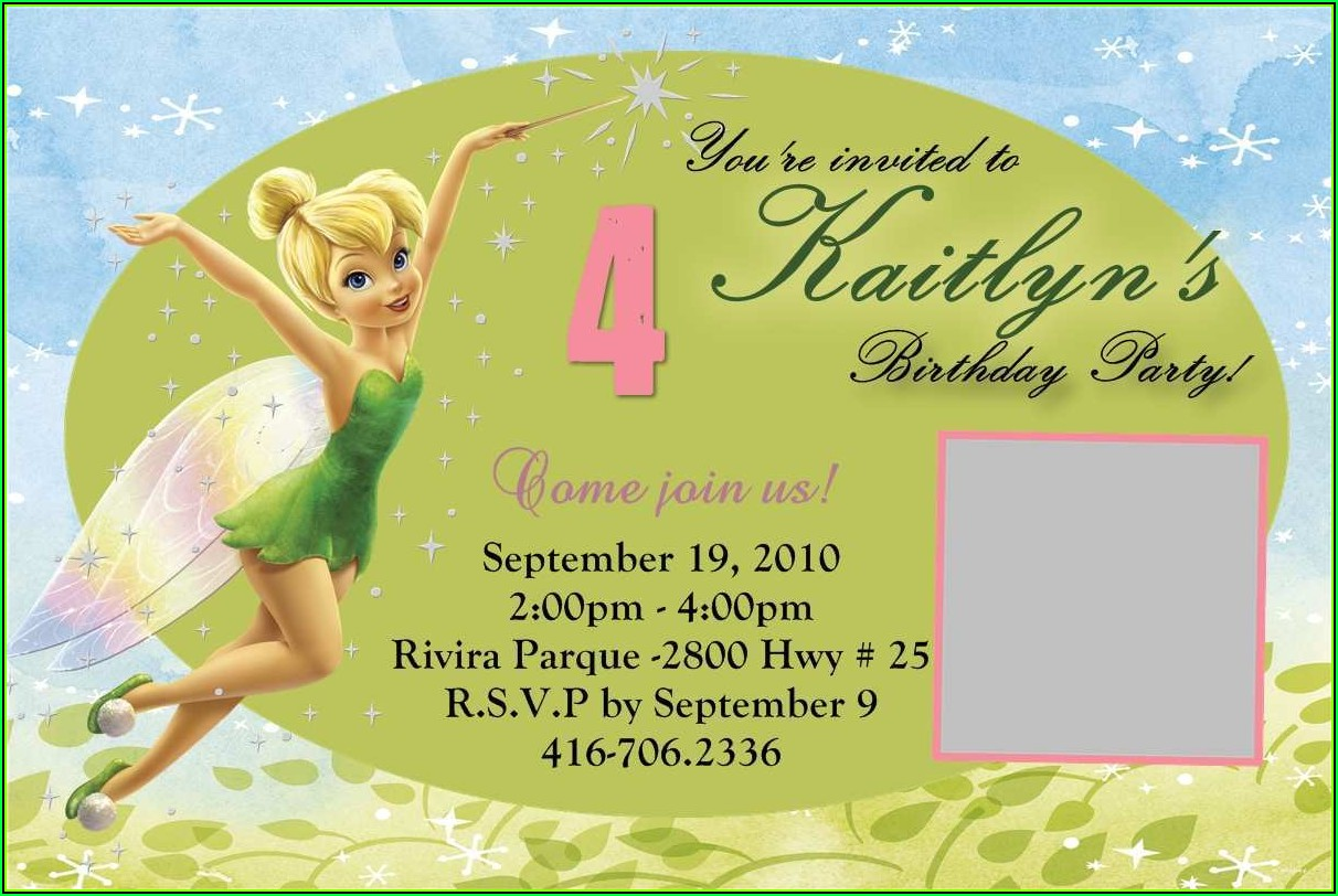 Tinkerbell Invitation Maker