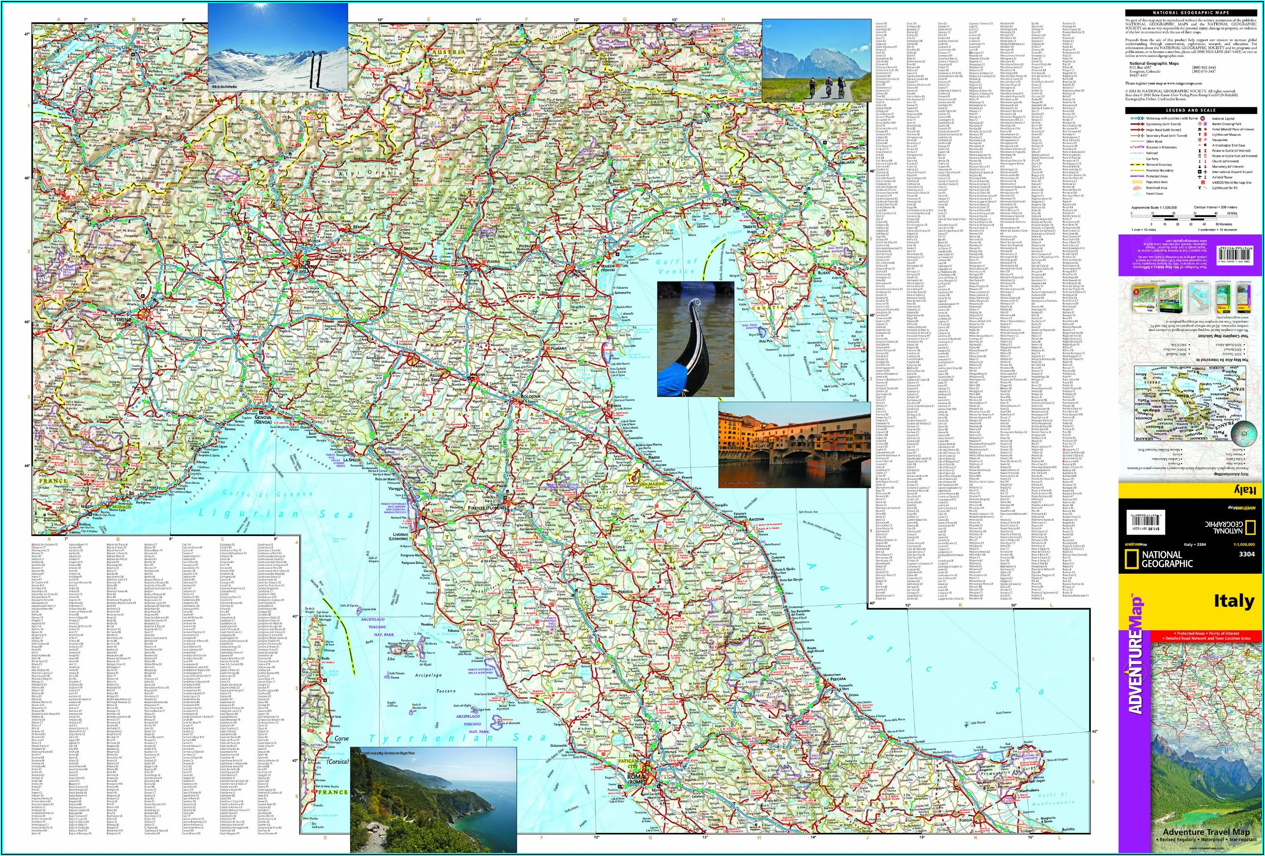 To Visit National Geographic And See The Map Of Italy