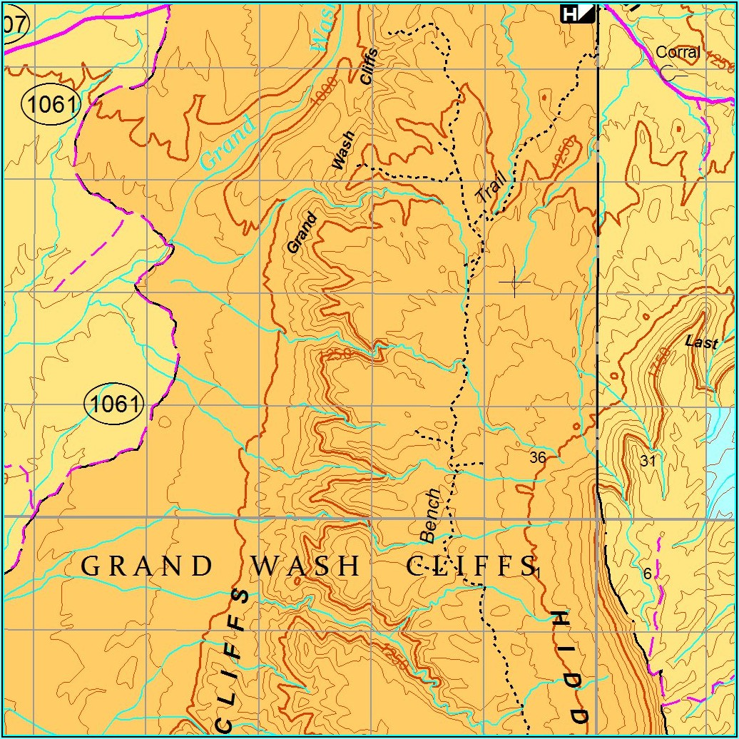 Topo Map Arizona Strip