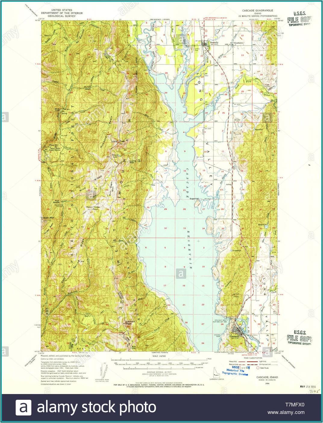 Topo Map Cascade Idaho