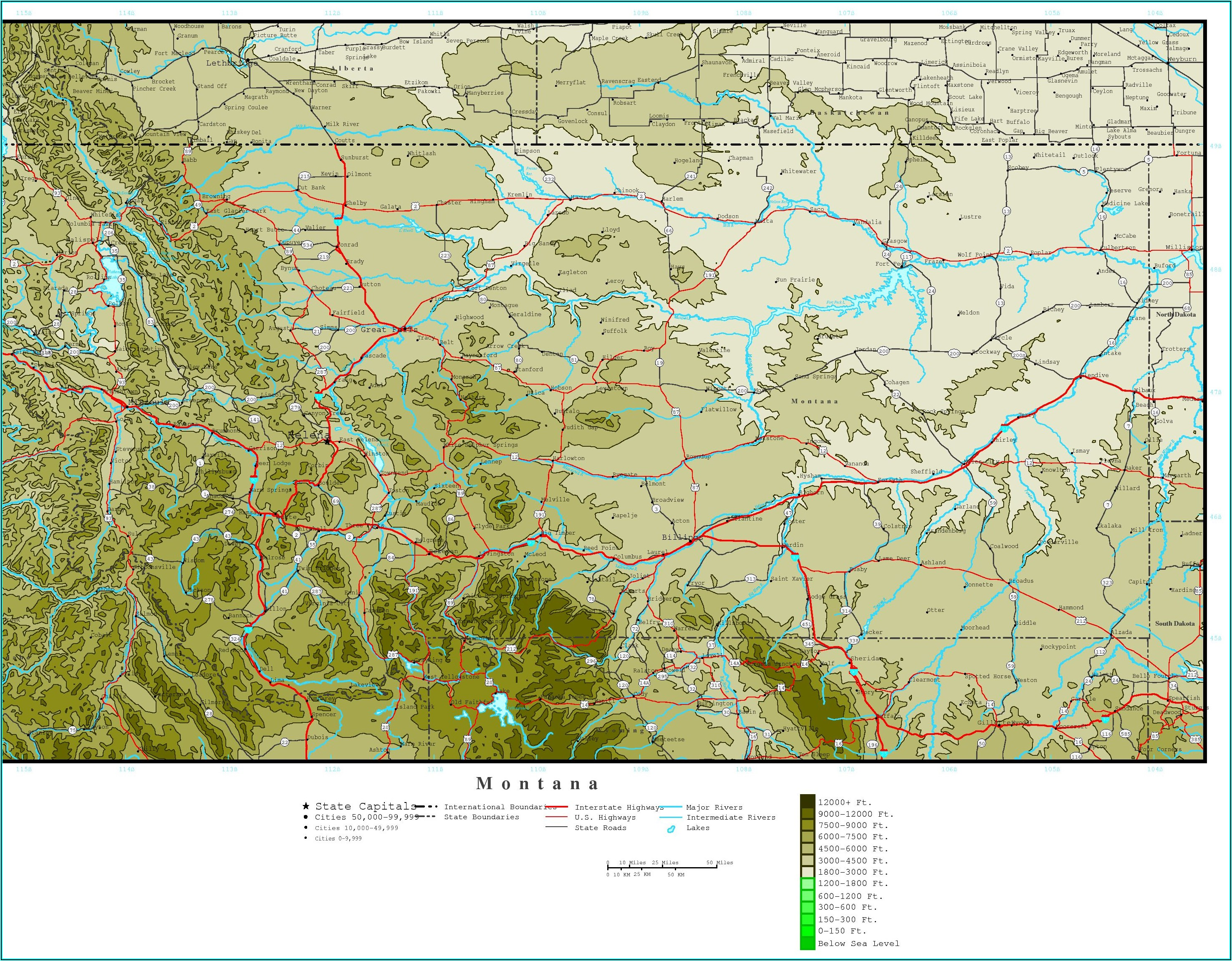 Topo Map Montana Download