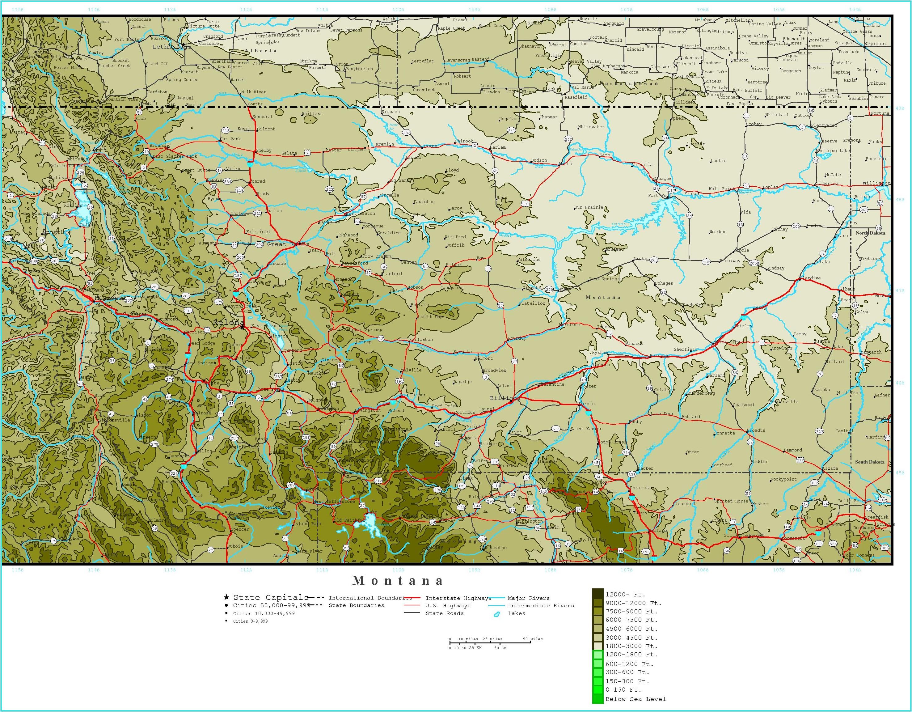 Topo Map Montana Download