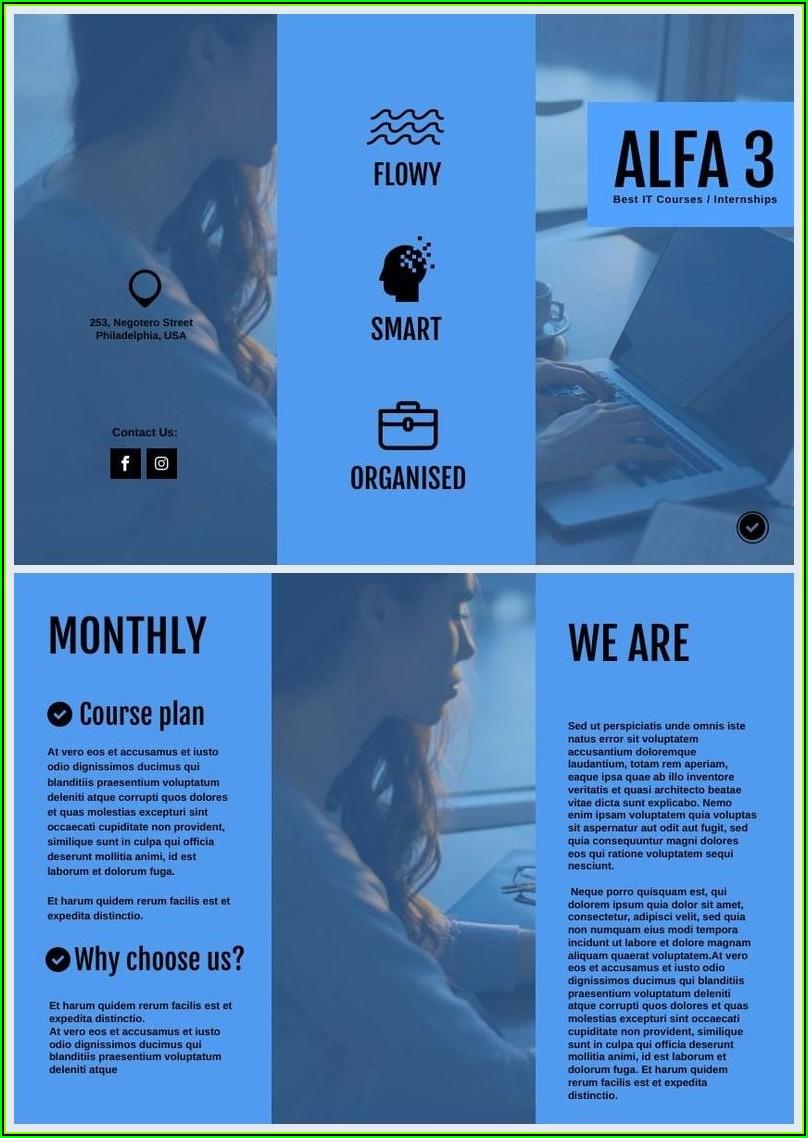 Tri Fold Brochure Template Maker