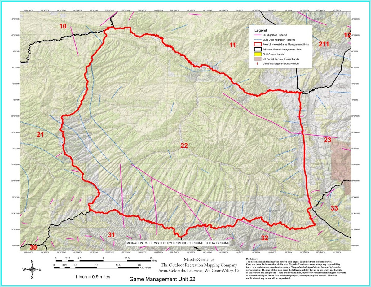 Unit 21 Colorado Elk Hunting Maps
