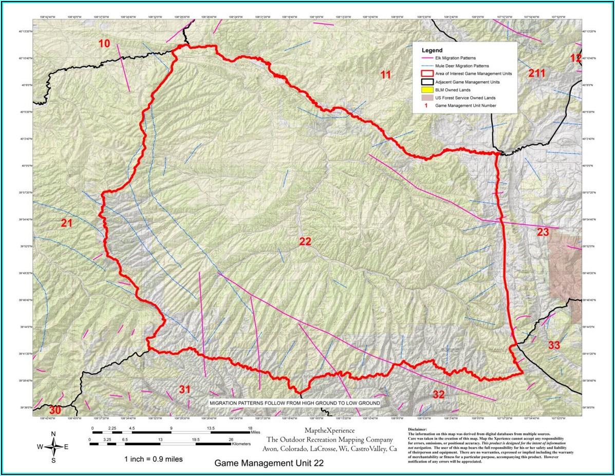 Unit 21 Colorado Elk Hunting Maps
