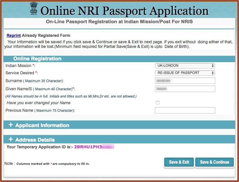 Us Passport Renewal Application Form 2019