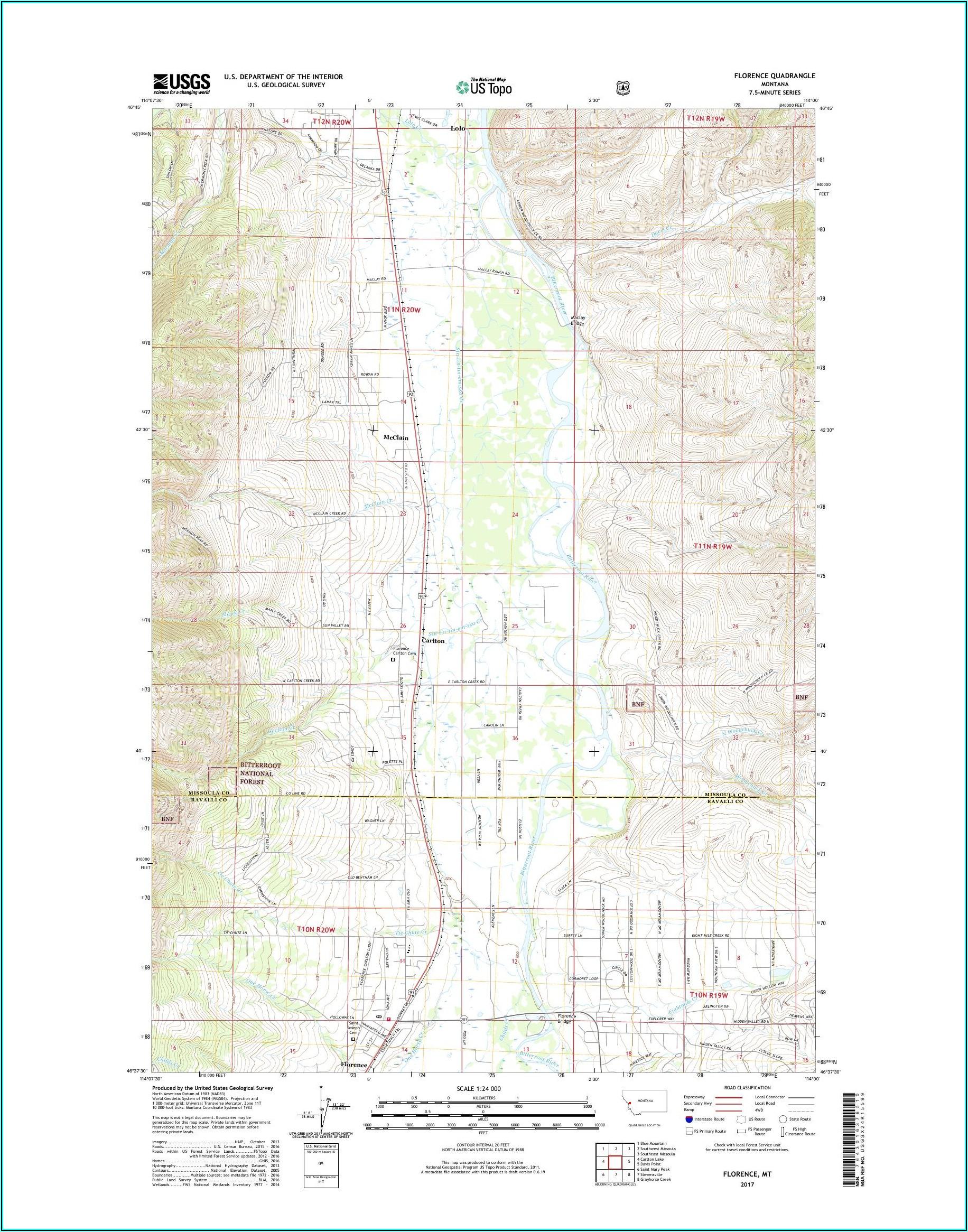 Usgs Topo Map Montana