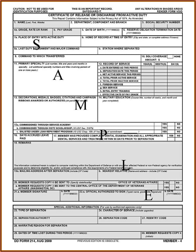 Va Form Request For Dd214