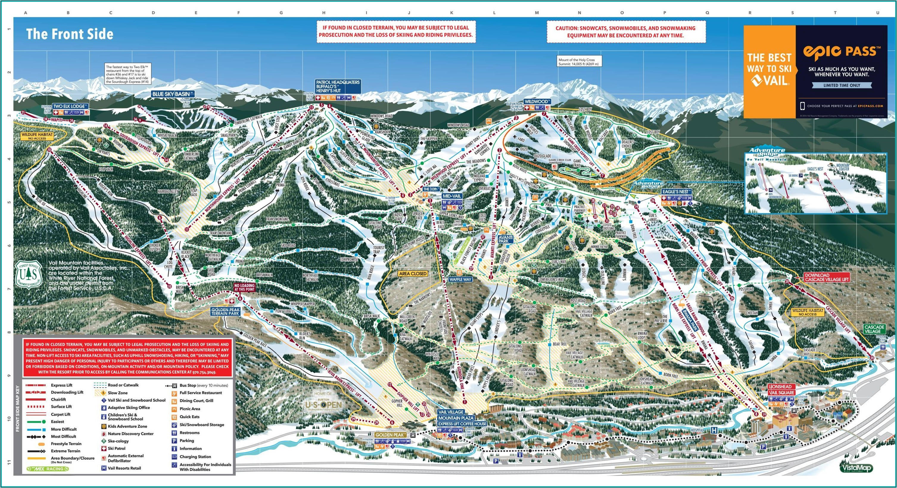 Vail Accommodations Map