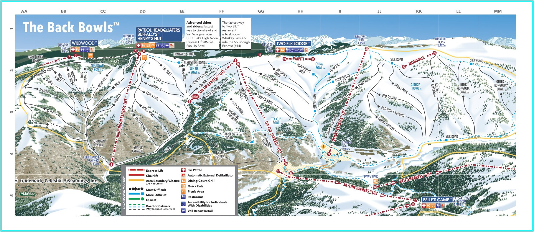 Vail Lions Head Trail Map