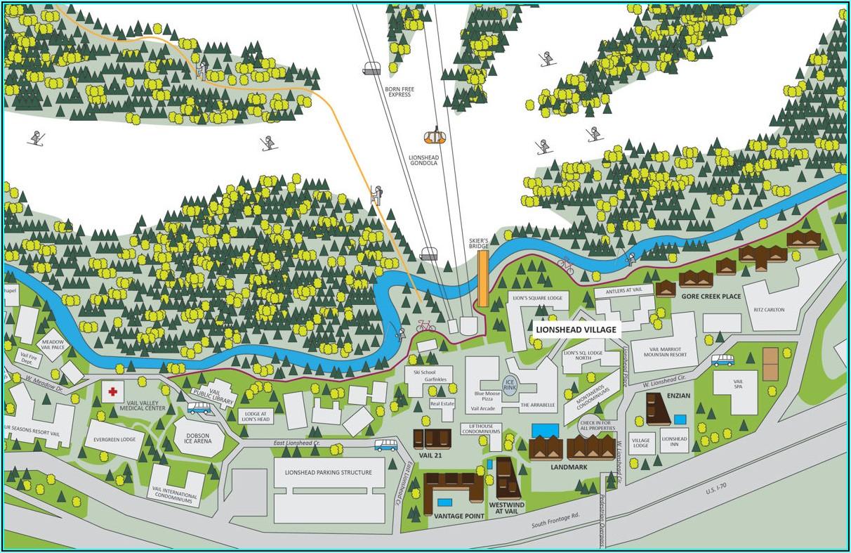 Vail Village Lodging Map