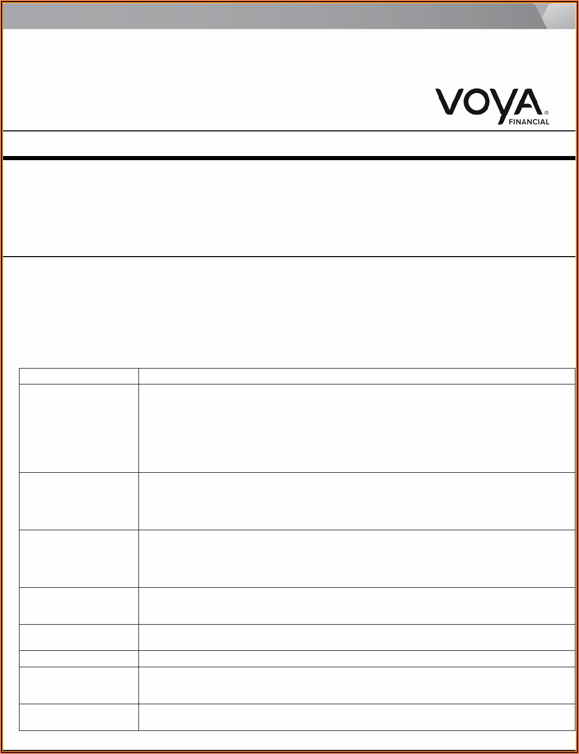 Voya Financial Annuity Claim Form
