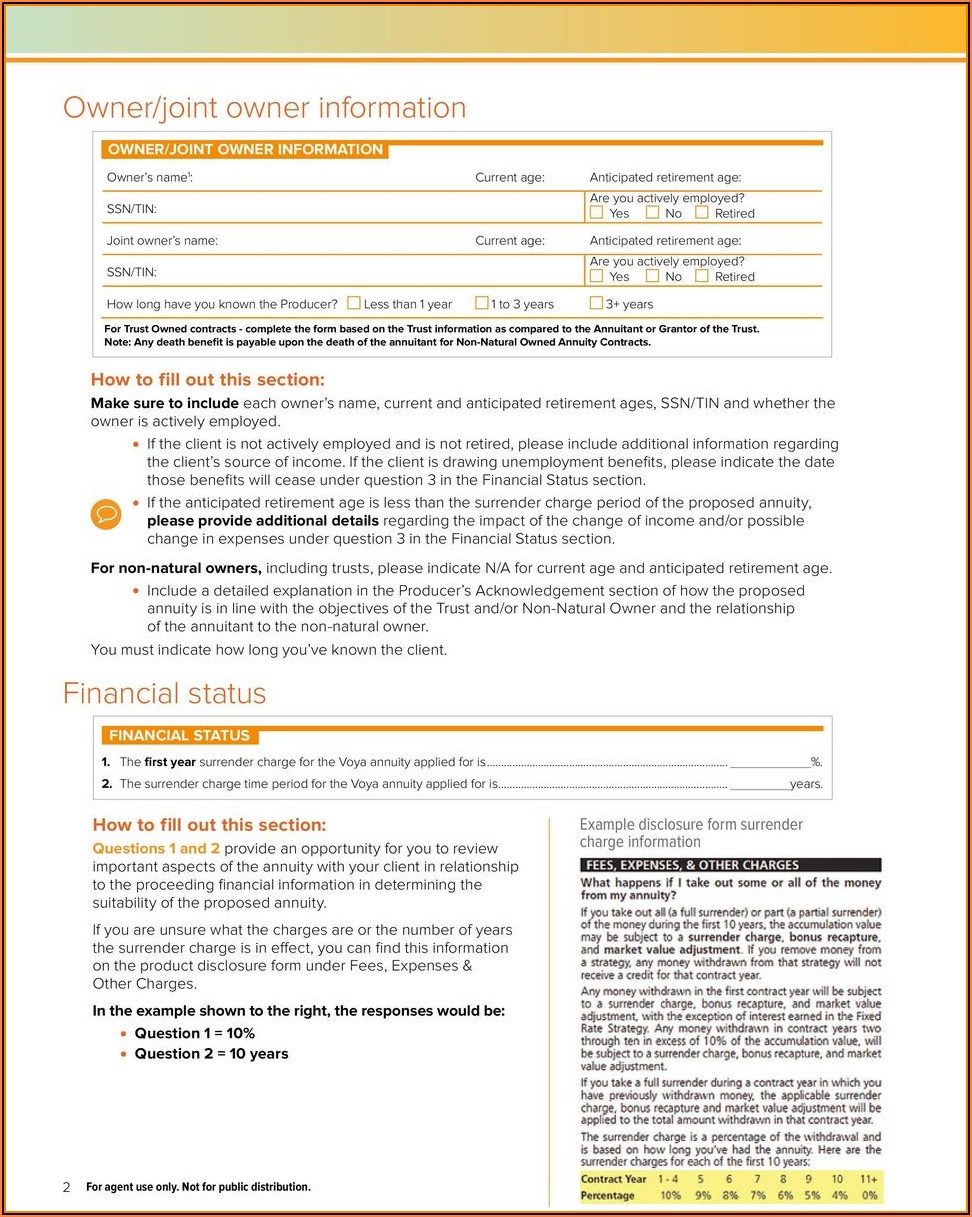 Voya Financial Annuity Withdrawal Form