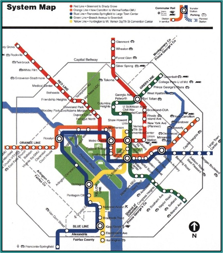 Wash Dc Metro Map Pdf