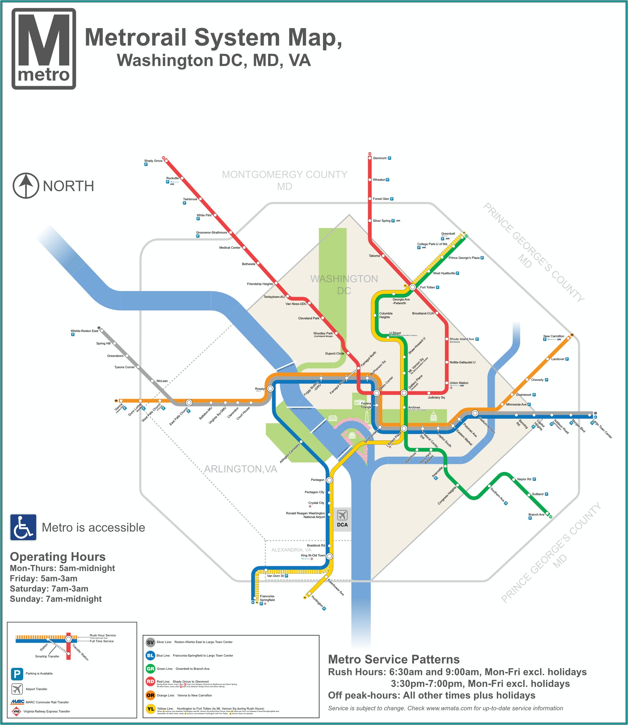 Wash Dc Metro Map Printable