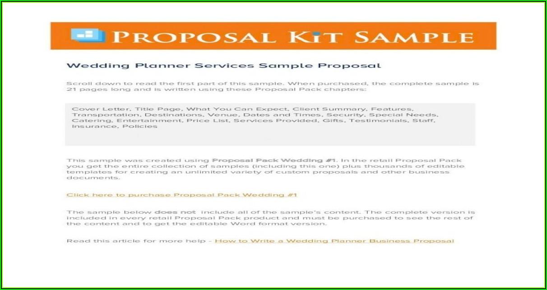 Wedding Planner Proposal Sample Pdf