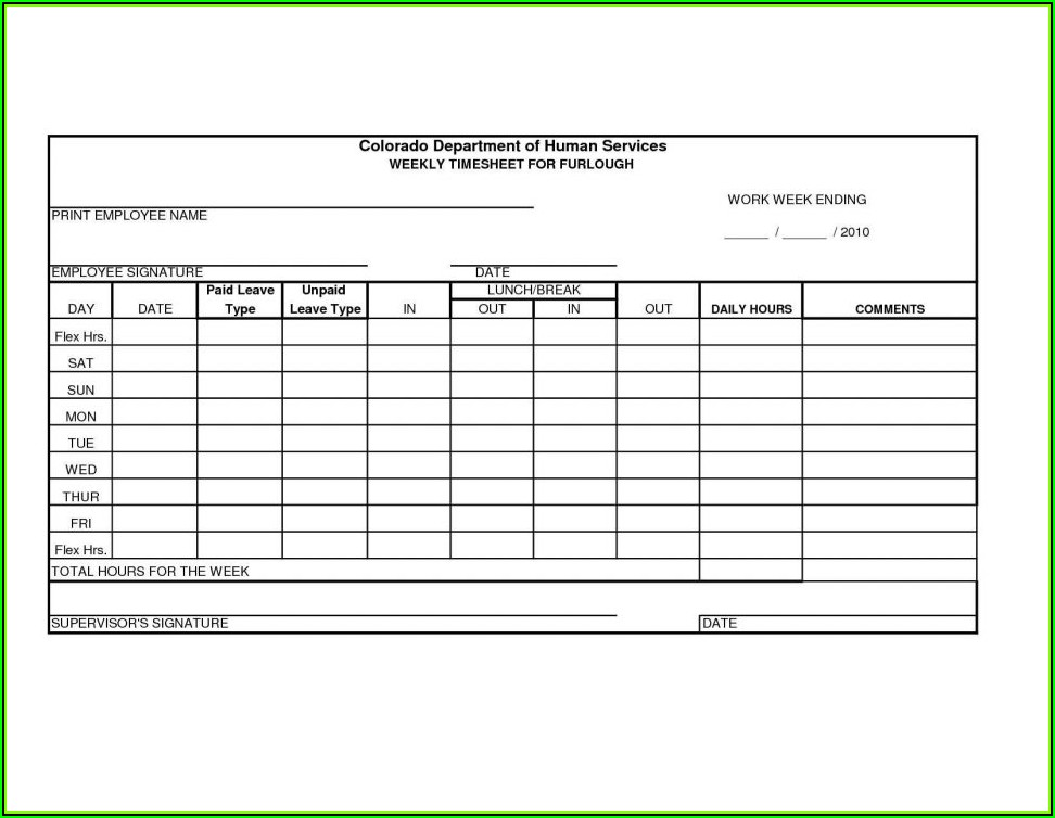 Weekly Timesheet Template Excel Uk