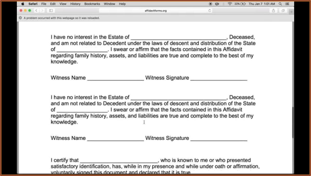 Where Can I Get A Small Estate Affidavit Form