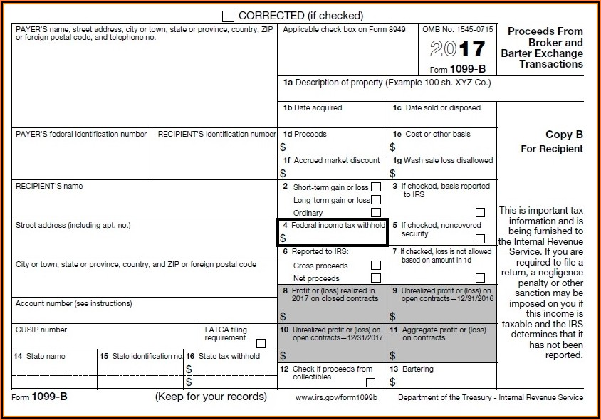 Where To Get Form 1099 B