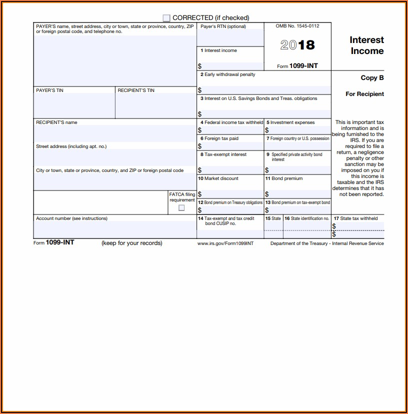 Where To Get Form 1099 Int