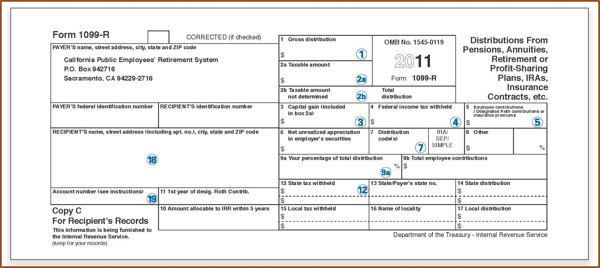 Where To Get Form 1099 R