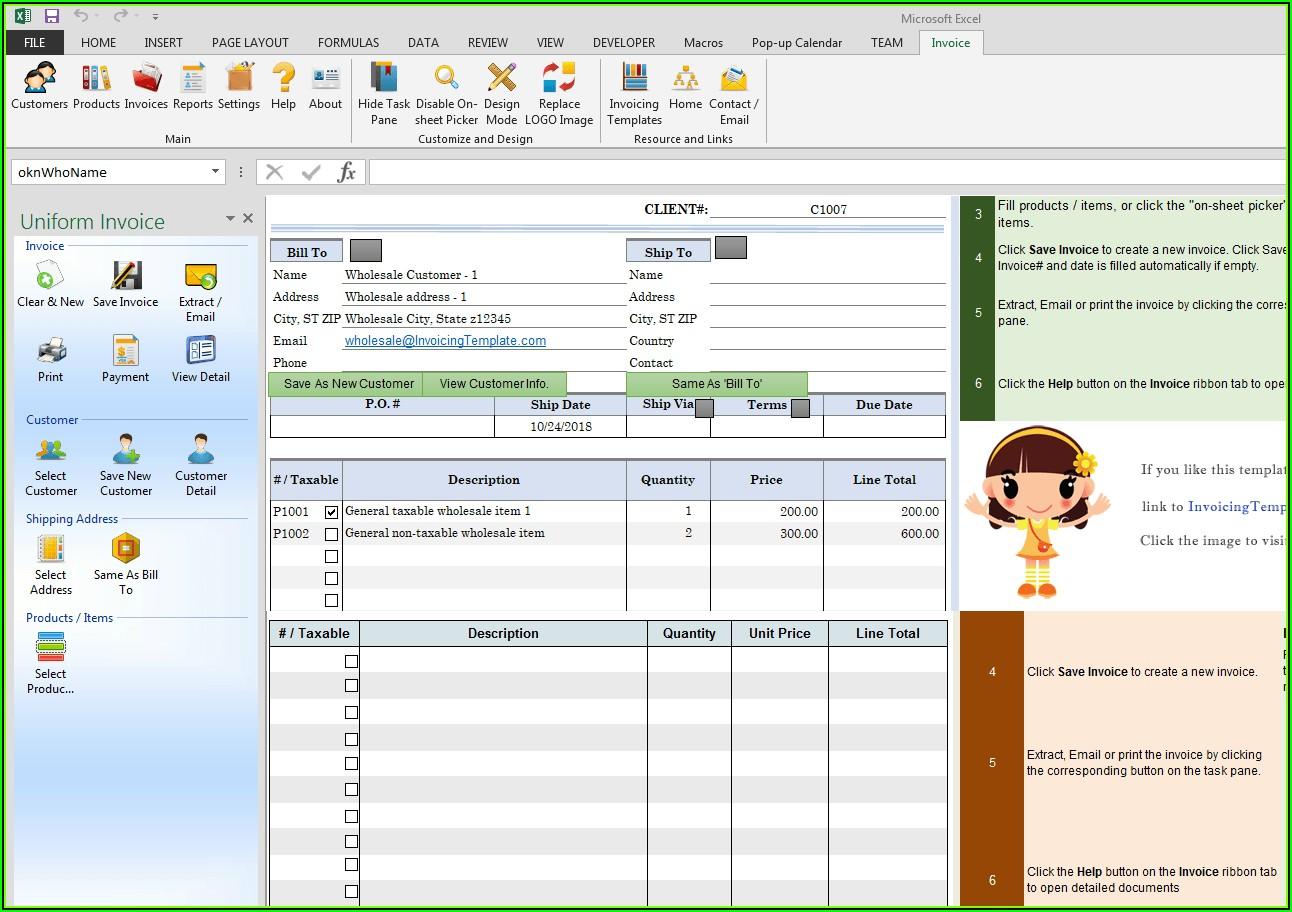 Wholesale Invoice Format
