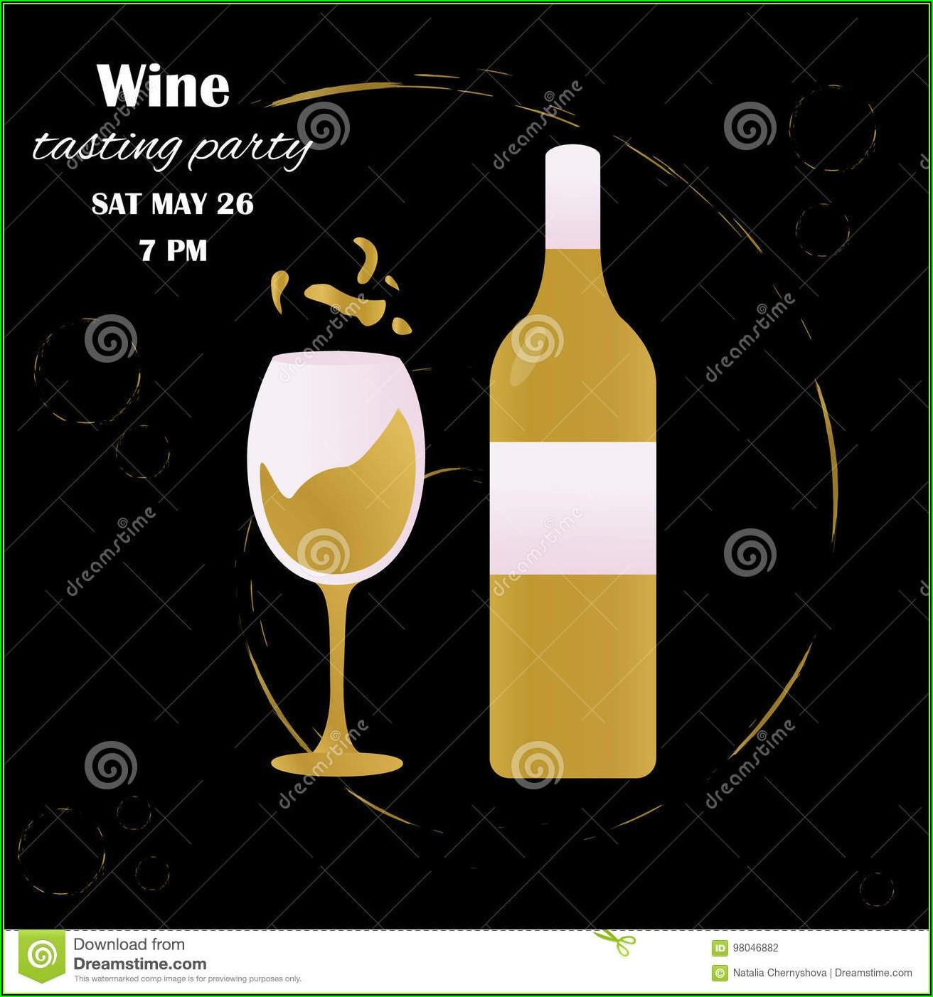 Wine Tasting Party Invitation Template