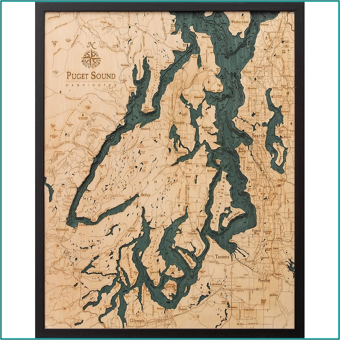 Wood Topographic Map Montana