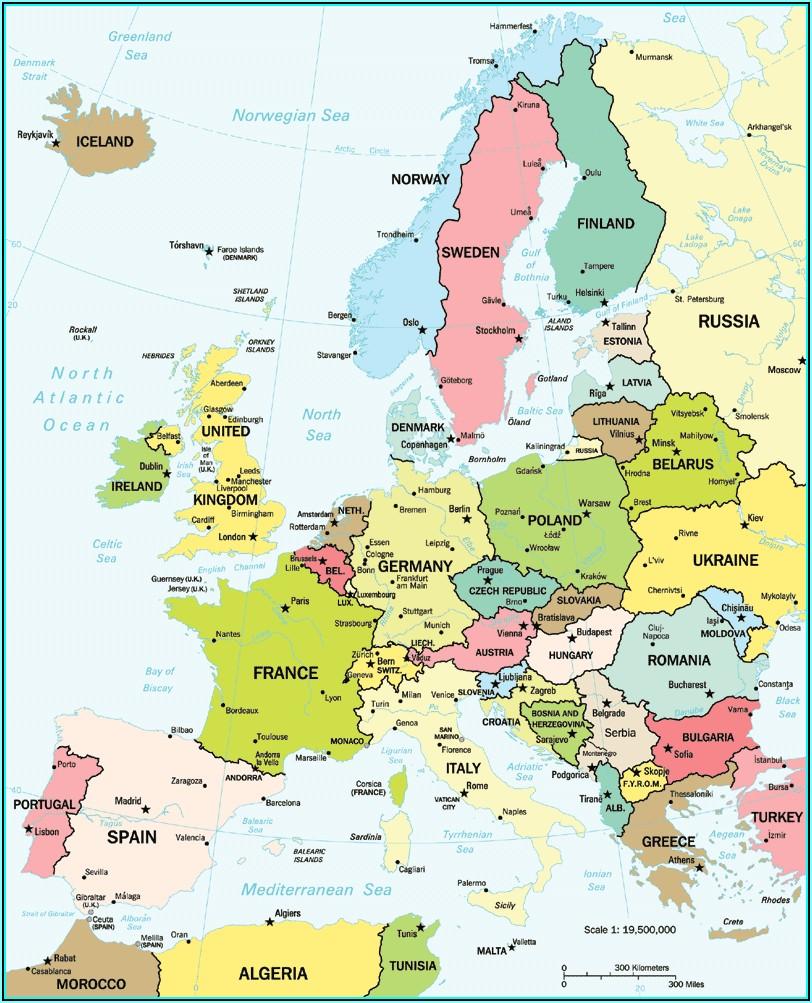 World Atlas Book Map Of Europe