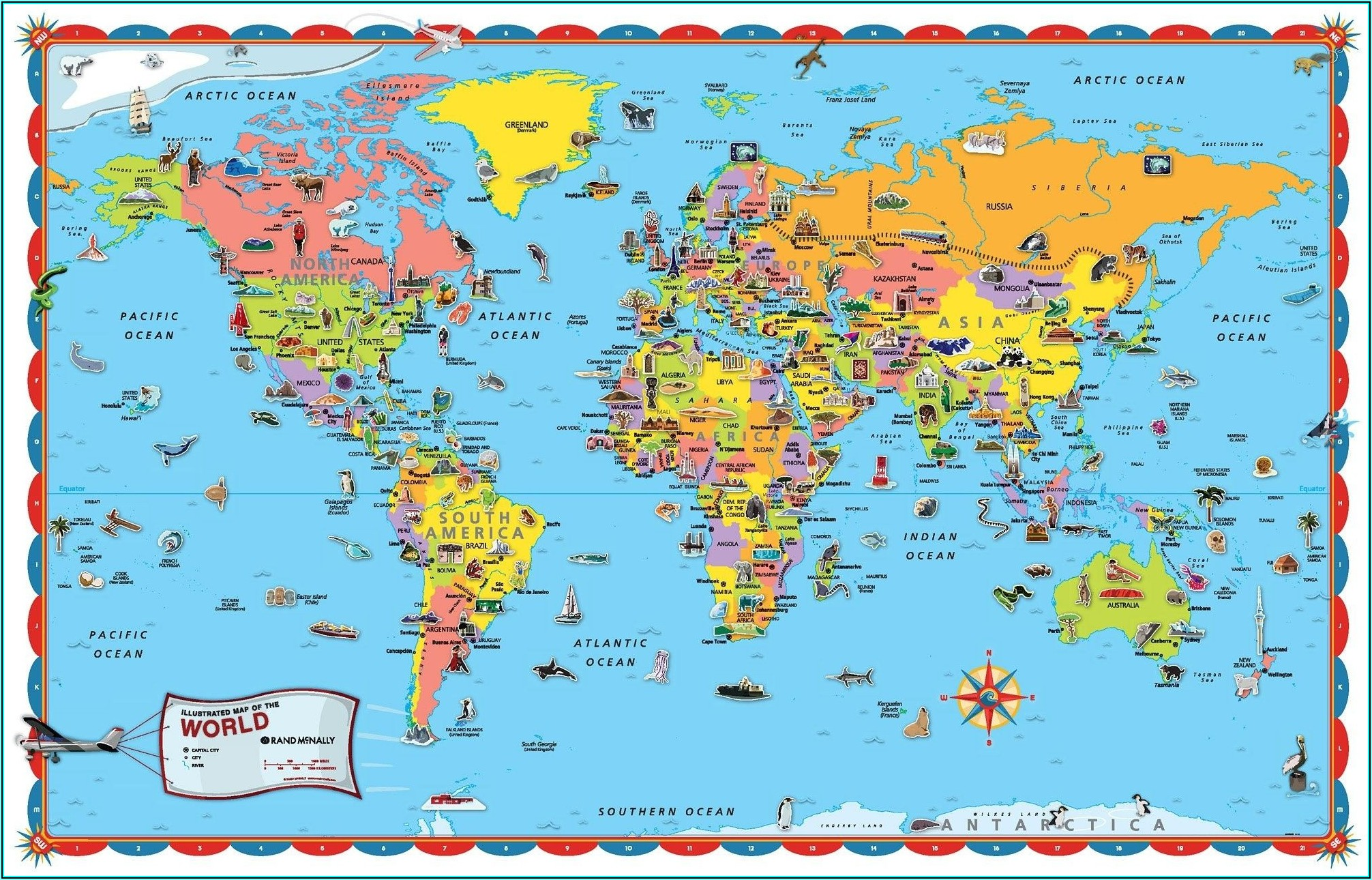 World Map Decals For Walls