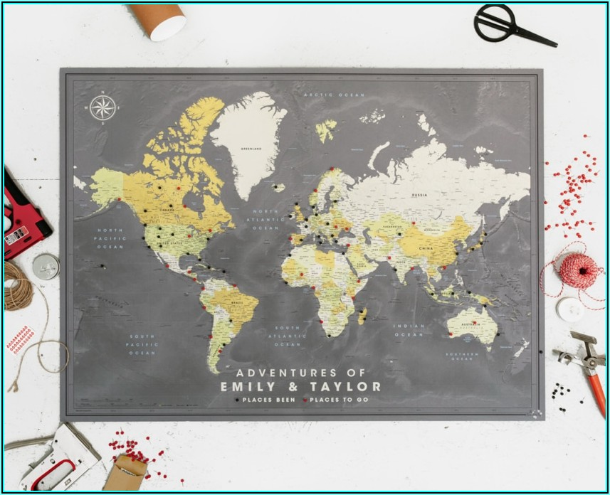 World Travel Map Pin Board Online