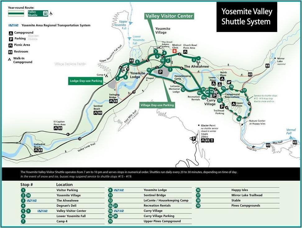 Yosemite Valley Hotel Map